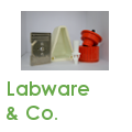 Custom-made labware and small components for research settings