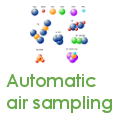 Automatic ambient air sampling, drone-based air sampling, autosampler ambient air, isotope analyses