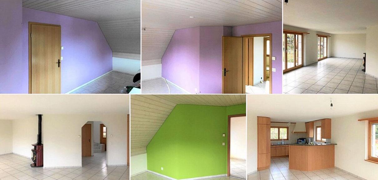 Zimmeranstrich Ideen in fantasievollen Farben