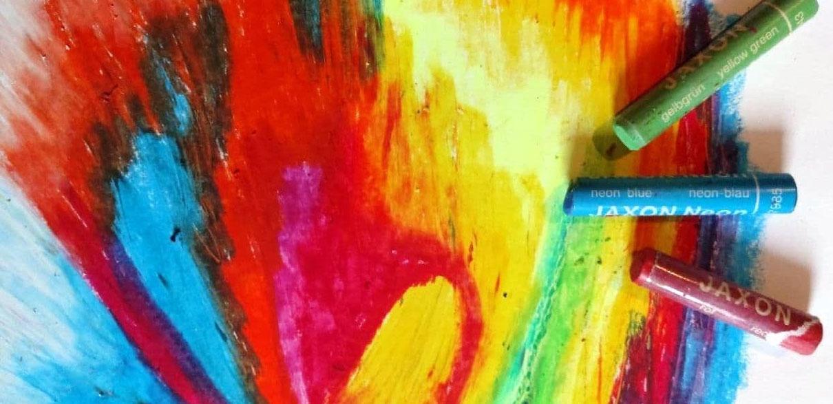 Bild mit Ölpastellfarben - Deine Bestimmung: Workshop mit Bild und Gesang