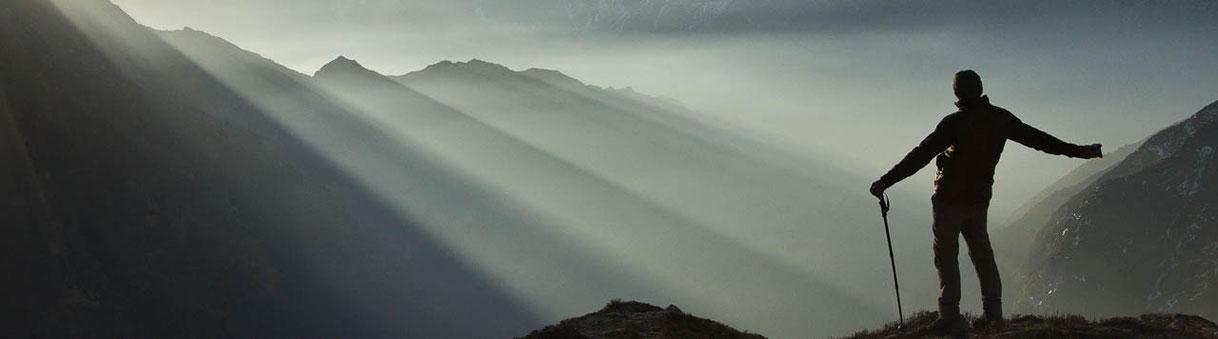 Auf einem Trekking im indischen Himalaya