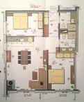 Appartement Zimbablick, Zimmerplan