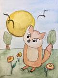 Kleiner Fuchs | Postkarte, glänzend