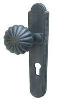 External plate with crancked knob Rustic design