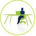 Planung, Beratung und Verkauf von Büroeinrichtung unter Ergonomie- Aspekten