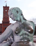 Venus Neptunbrunnen vor dem Roten Rathaus Berlin. Foto: Helga Karl