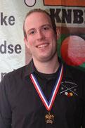 Cliff Garrelds, districtkampioen en gewestelijk kampioen 5e klas libre en 4e op het NK