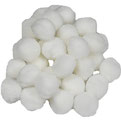 Pompoms weiß, 15 mm