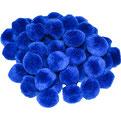 Pompoms blau, 15 mm