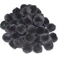 Pompoms schwarz, 15 mm