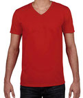 bedrucke Softstyle® V-Neck T-Shirt