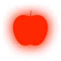 Icon for red traffic light apple high