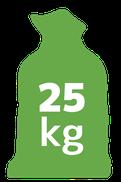 25 kilogramów
