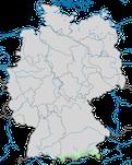 Karte zur Verbreitung der Alpenbraunelle (Prunella collaris) in Deutschland während der Zugzeit.