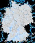 Karte den Vorkommen des Weißstorch (Ciconia ciconia) in Deutschland im Winter.