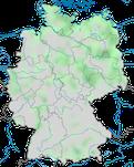 Karte zur Verbreitung des Rothalstauchers (Podiceps grisege) in Deutschland im Jahresverlauf