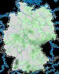 Karte zum Brutvorkommen des Erlenzeisigs (Spinus spinus) in Deutschland.