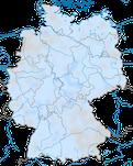 Karte zur Verbreitung des Rotmilans (Milvus milvus) in Deutschland im Winter