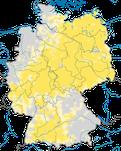 Karte zum Brutvorkommen des Rotmilans (Milvus milvus) in Deutschland