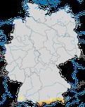 Karte zur Verbreitung des Bergpieper (Anthus spinoletta) in Deutschland während der Brutzeit.