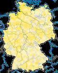 Karte zur Verbreitung des Flussuferläufers (Actitis hypoleucos) in Deutschland.