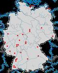 Karten zum Auftreten der Alpenbraunelle zwischen 2013 und 2020.