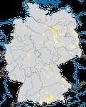Karte zum Brutvorkommen des Flussuferläufers (Actitis hypoleucos) in Deutschland.
