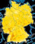 Karte zum Brutvorkommen des Stieglitzes (Carduelis carduelis) in Deutschland.