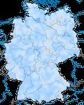 Karte zur Verbreitung des Erlenzeisigs (Spinus spinus) in Deutschland im Winter.