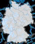 Karte zur Verbreitung des Sommergoldhähnchens (Regulus ignicapilla) in Deutschland während des Winters.