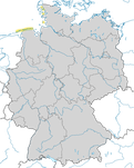 Karte zum Brutvorkommen des Löfflers (Platalea leucorodia) in Deutschland.