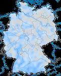 Karte zur Verbreitung des Bergpieper (Anthus spinoletta) in Deutschland während des Winters.