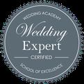 Label certification wedding expert pour l'agence d'organisation et de décoration de mariage My Daydream Wedding