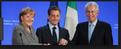 Mario Monti, Nicolas Sarkozy, Angela Merkel