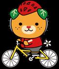サイクリングをするみきゃんのイラスト