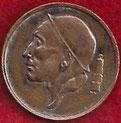 MONEDA BÉLGICA - KM 149.1 - 50 CÉNTIMOS (BELGIE) 1.980 - BRONCE (MBC+/VF+) 0,65€.