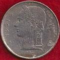 MONEDA BÉLGICA - KM 142.1 - 1 FRANCO BELGA (BELGIQUE) 1.951 - COBRE - NíQUEL (BC-/VG-) 0,45€.