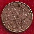 MONEDA ALEMANIA - KM 207 - 1 CÉNTIMO DE EURO - 2.002 (A) ACERO - COBRE (MBC+/VF+) 0,50€.