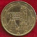 MONEDA AUSTRIA - KM 3085 - 10 CÉNTIMOS DE EURO - 2.007 - ORO NÓRDICO (MBC/VF) 0,50€.