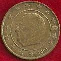 MONEDA BÉLGICA - KM 227 - 10 CÉNTIMOS DE EURO - 2.001 - ORO NÓRDICO (BC-/VG-) 0,35€.