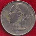 MONEDA BÉLGICA - KM 135.1 - 5 FRANCOS BELGAS (BELGIE) 1.949 - COBRE - NíQUEL (BC/VG) 0,60€.