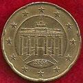 MONEDA ALEMANIA - KM 211 - 20 CÉNTIMOS DE EURO - 2.004 (D) ORO NÓRDICO (MBC/VF) 1,20€.