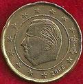 MONEDA BÉLGICA - KM 228 - 20 CÉNTIMOS DE EURO - 2.006 - ORO NÓRDICO (MBC-/VF-) 0,90€.
