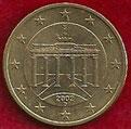 MONEDA ALEMANIA - KM 212 - 50 CÉNTIMOS DE EURO - 2.002 (D) ORO NÓRDICO (BC/VG) 1€.