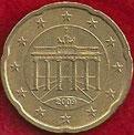 MONEDA ALEMANIA - KM 255 - 20 CÉNTIMOS DE EURO - 2.009 (F) ORO NÓRDICO (MBC/VF) 1,20€.
