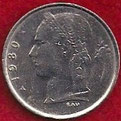 MONEDA BÉLGICA - KM 142.2 - 1 FRANCO BELGA (BELGIQUE) 1.980 - COBRE - NíQUEL (MEDALLA ALINEADA) (MBC/VF) 0,75€.