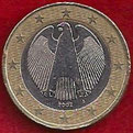 MONEDA ALEMANIA - KM 213 - 1 EURO - 2.002 (J) CUPRONÍQUEL - LATÓN - BIMETÁLICA (MBC-/VF-) 1,75€.