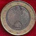 MONEDA ALEMANIA - KM 213 - 1 EURO - 2.003 (A) CUPRONÍQUEL - LATÓN - BIMETÁLICA (MBC/VF) 1,75€.