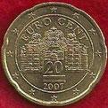 MONEDA AUSTRIA - KM 3086 - 20 CÉNTIMOS DE EURO - 2.007 - ORO NÓRDICO (MBC+/-/VF+/-) 0,75€.