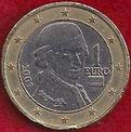 MONEDA AUSTRIA - KM 3088 - 1 EURO - 2.007 - CUPRONÍQUEL - LATÓN - BIMETÁLICA (MBC/VF) 2€.